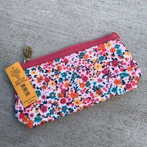TORY BURCH 🆕 Floral Pink Makeup Bag Case Clutch
